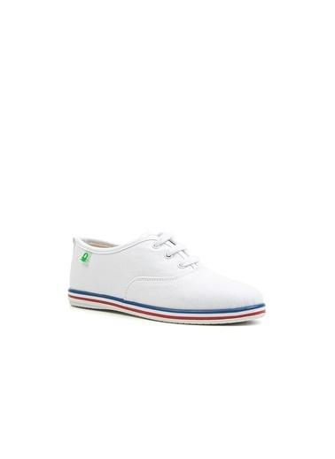 Benetton Bn30223 Kadın Spor Ayakkabı Beyaz